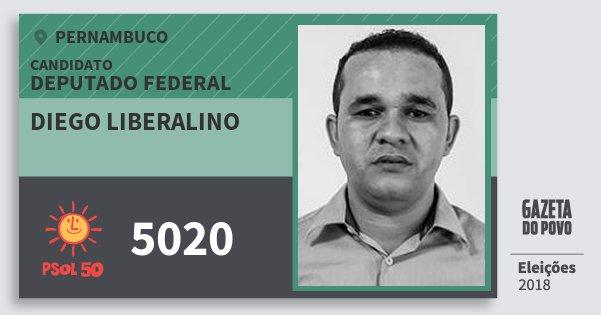 Santinho Diego Liberalino 5020 (PSOL) Deputado Federal   Pernambuco   Eleições 2018