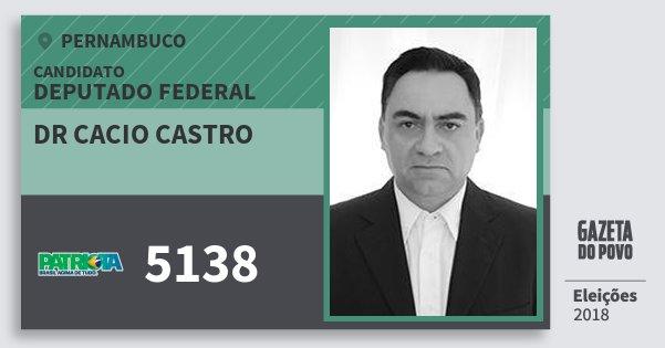 Santinho Dr Cacio Castro 5138 (PATRI) Deputado Federal | Pernambuco | Eleições 2018