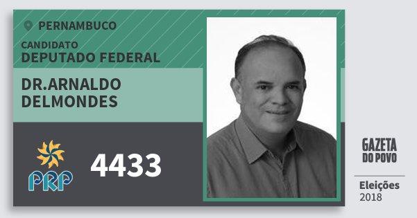Santinho Dr.arnaldo Delmondes 4433 (PRP) Deputado Federal | Pernambuco | Eleições 2018