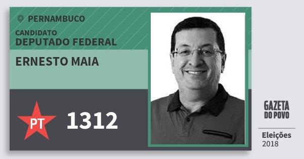 Santinho Ernesto Maia 1312 (PT) Deputado Federal | Pernambuco | Eleições 2018