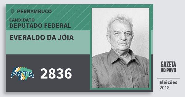 Santinho Everaldo da Jóia 2836 (PRTB) Deputado Federal | Pernambuco | Eleições 2018