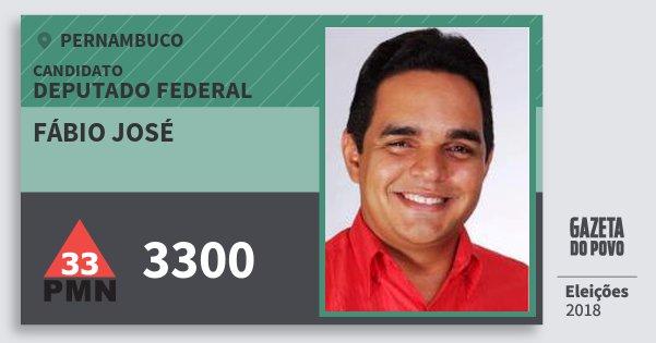 Santinho Fábio José 3300 (PMN) Deputado Federal | Pernambuco | Eleições 2018