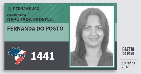 Fernanda do Posto 1441 (PTB) Deputada Federal | Pernambuco