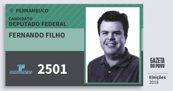 Santinho Fernando Filho 2501 (DEM) Deputado Federal | Pernambuco | Eleições 2018