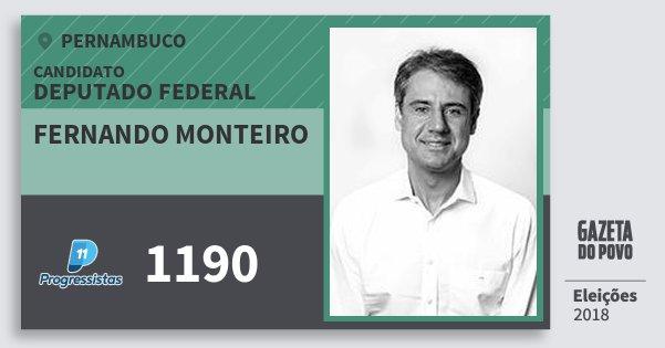 Santinho Fernando Monteiro 1190 (PP) Deputado Federal | Pernambuco | Eleições 2018
