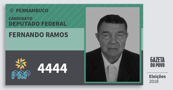 Santinho Fernando Ramos 4444 (PRP) Deputado Federal | Pernambuco | Eleições 2018