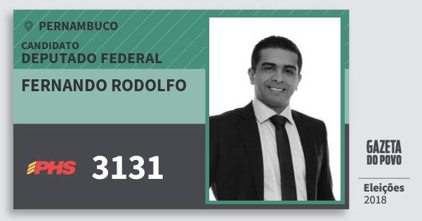 Santinho Fernando Rodolfo 3131 (PHS) Deputado Federal | Pernambuco | Eleições 2018