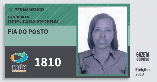Santinho Fia do Posto 1810 (REDE) Deputada Federal | Pernambuco | Eleições 2018