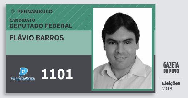 Santinho Flávio Barros 1101 (PP) Deputado Federal   Pernambuco   Eleições 2018
