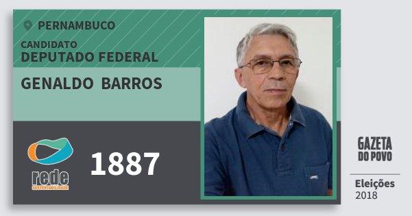 Santinho Genaldo  Barros 1887 (REDE) Deputado Federal   Pernambuco   Eleições 2018