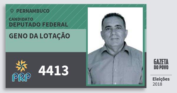 Santinho Geno da Lotação 4413 (PRP) Deputado Federal   Pernambuco   Eleições 2018