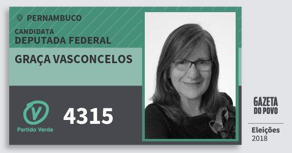 Santinho Graça Vasconcelos 4315 (PV) Deputada Federal   Pernambuco   Eleições 2018