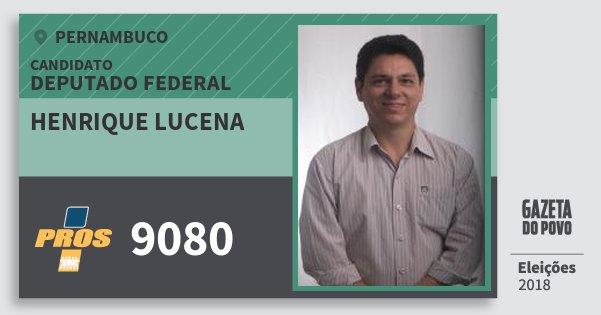 Santinho Henrique Lucena 9080 (PROS) Deputado Federal | Pernambuco | Eleições 2018