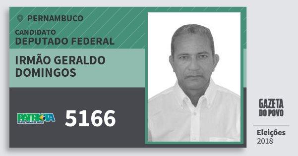 Santinho Irmão Geraldo Domingos 5166 (PATRI) Deputado Federal | Pernambuco | Eleições 2018