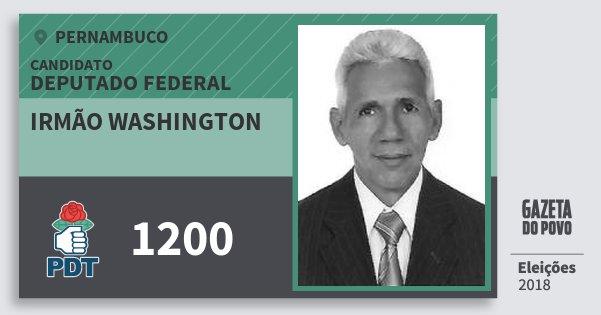 Santinho Irmão Washington 1200 (PDT) Deputado Federal | Pernambuco | Eleições 2018
