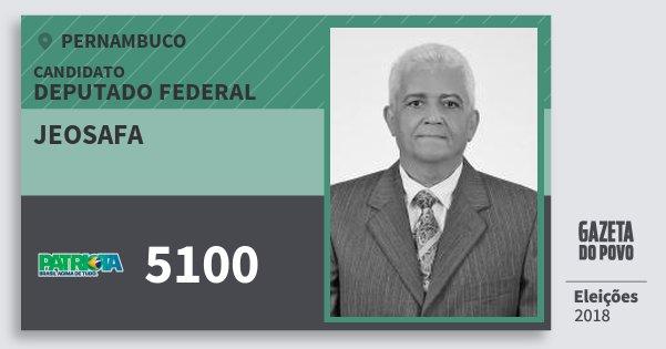 Santinho Jeosafa 5100 (PATRI) Deputado Federal | Pernambuco | Eleições 2018