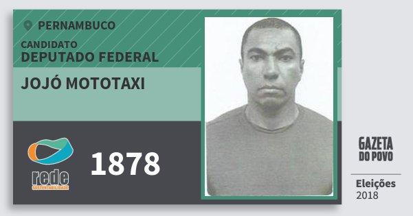Santinho Jojó Mototaxi 1878 (REDE) Deputado Federal | Pernambuco | Eleições 2018
