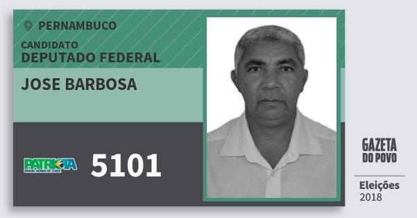 Santinho Jose Barbosa 5101 (PATRI) Deputado Federal | Pernambuco | Eleições 2018