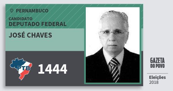 Santinho José Chaves 1444 (PTB) Deputado Federal | Pernambuco | Eleições 2018