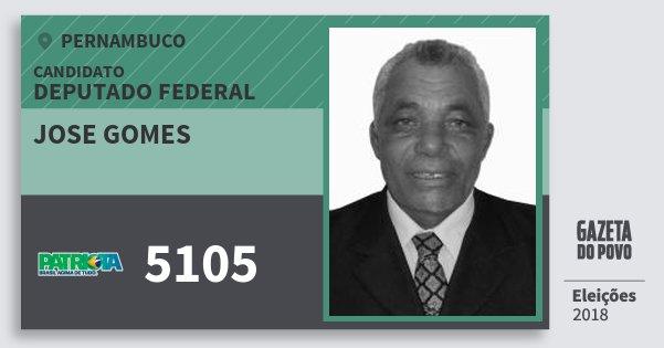 Santinho Jose Gomes 5105 (PATRI) Deputado Federal | Pernambuco | Eleições 2018