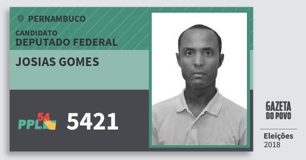 Santinho Josias Gomes 5421 (PPL) Deputado Federal | Pernambuco | Eleições 2018