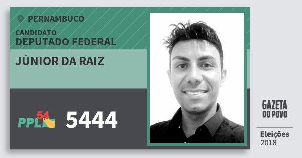 Santinho Júnior da Raiz 5444 (PPL) Deputado Federal | Pernambuco | Eleições 2018