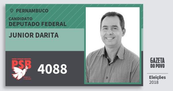 Santinho Junior Darita 4088 (PSB) Deputado Federal | Pernambuco | Eleições 2018