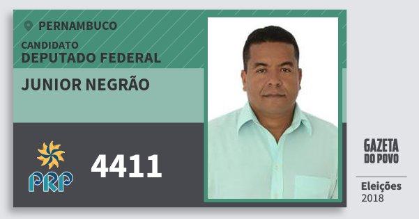 Santinho Junior Negrão 4411 (PRP) Deputado Federal | Pernambuco | Eleições 2018