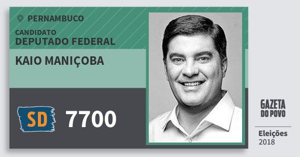 Santinho Kaio Maniçoba 7700 (SOLIDARIEDADE) Deputado Federal | Pernambuco | Eleições 2018