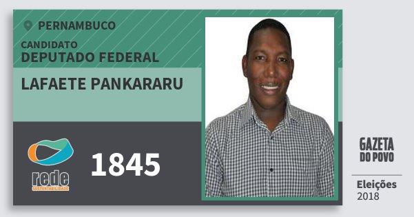 Santinho Lafaete Pankararu 1845 (REDE) Deputado Federal | Pernambuco | Eleições 2018