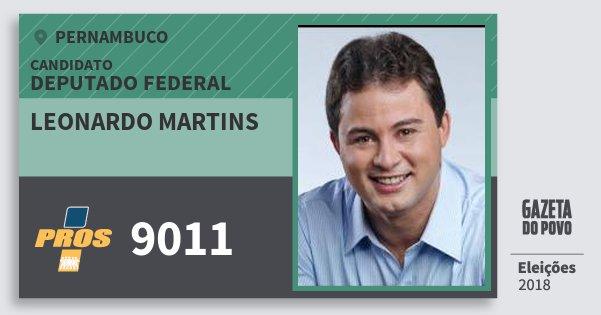 Santinho Leonardo Martins 9011 (PROS) Deputado Federal | Pernambuco | Eleições 2018