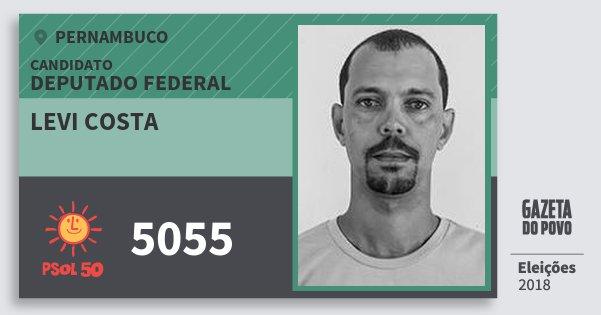 Santinho Levi Costa 5055 (PSOL) Deputado Federal | Pernambuco | Eleições 2018