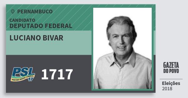 Santinho Luciano Bivar 1717 (PSL) Deputado Federal | Pernambuco | Eleições 2018
