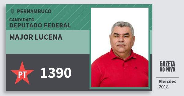 Santinho Major Lucena 1390 (PT) Deputado Federal | Pernambuco | Eleições 2018
