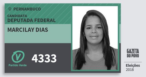 Santinho Marcilay Dias 4333 (PV) Deputada Federal | Pernambuco | Eleições 2018