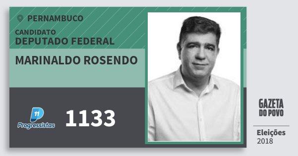 Santinho Marinaldo Rosendo 1133 (PP) Deputado Federal | Pernambuco | Eleições 2018