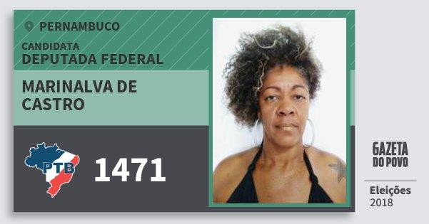 Santinho Marinalva de Castro 1471 (PTB) Deputada Federal   Pernambuco   Eleições 2018