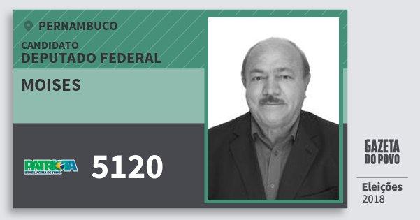 Santinho Moises 5120 (PATRI) Deputado Federal   Pernambuco   Eleições 2018