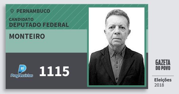 Santinho Monteiro 1115 (PP) Deputado Federal | Pernambuco | Eleições 2018