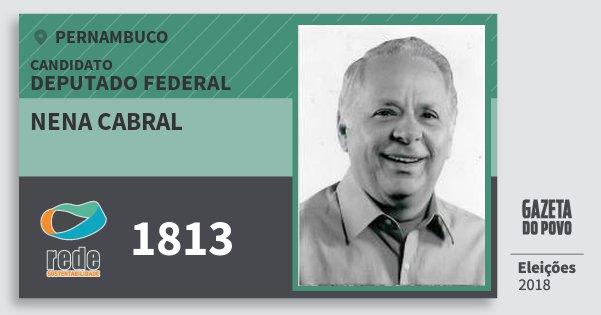 Santinho Nena Cabral 1813 (REDE) Deputado Federal | Pernambuco | Eleições 2018