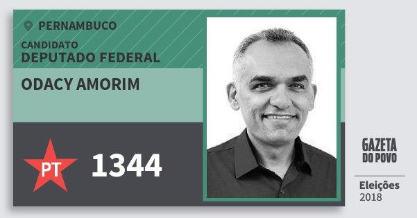 Santinho Odacy Amorim 1344 (PT) Deputado Federal | Pernambuco | Eleições 2018