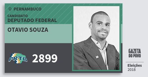 Santinho Otavio Souza 2899 (PRTB) Deputado Federal | Pernambuco | Eleições 2018