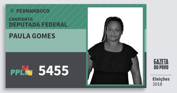 Santinho Paula Gomes 5455 (PPL) Deputada Federal | Pernambuco | Eleições 2018