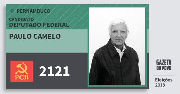 Santinho Paulo Camelo 2121 (PCB) Deputado Federal | Pernambuco | Eleições 2018