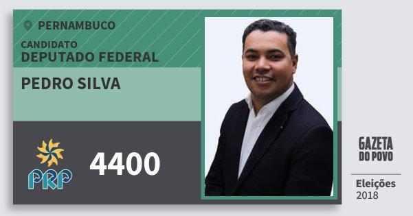 Santinho Pedro Silva 4400 (PRP) Deputado Federal | Pernambuco | Eleições 2018