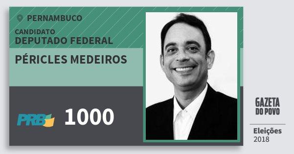 Santinho Péricles Medeiros 1000 (PRB) Deputado Federal | Pernambuco | Eleições 2018