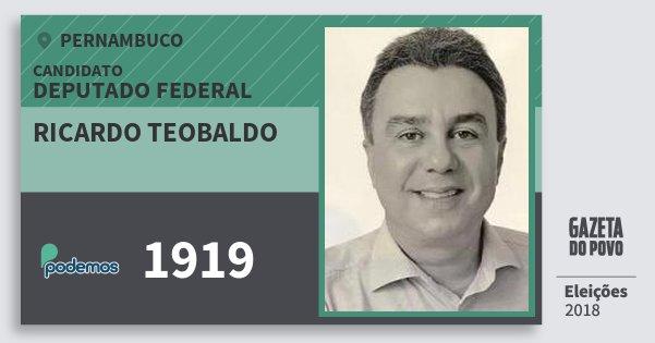 Santinho Ricardo Teobaldo 1919 (PODE) Deputado Federal | Pernambuco | Eleições 2018