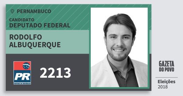 Santinho Rodolfo Albuquerque 2213 (PR) Deputado Federal | Pernambuco | Eleições 2018