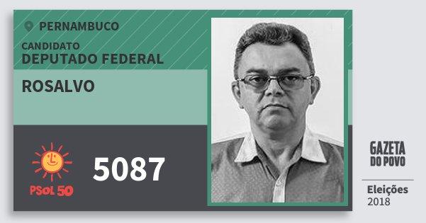 Santinho Rosalvo 5087 (PSOL) Deputado Federal | Pernambuco | Eleições 2018