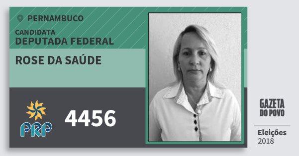 Santinho Rose da Saúde 4456 (PRP) Deputada Federal | Pernambuco | Eleições 2018